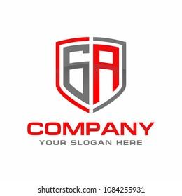 GA initial Logo Design Vector