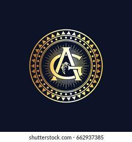 GA Initials Logo Vector