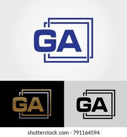 GA Letter Design - Initials Logo - Letter Logo