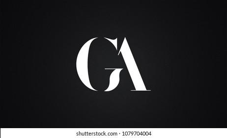 GA Letter Logo Design Template Vector