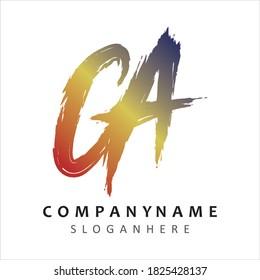 GA Letter logo vector eps