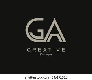 GA Logo. Letter design vector