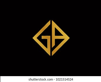 GA square shape gold color logo
