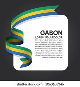 Gabon flag background