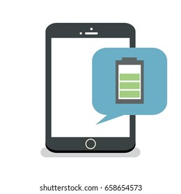 Gadget With Battery Level Vector Illustration