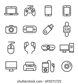 Gadget And Device Icons