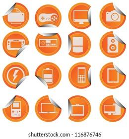 gadget icon sticker style