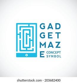 Gadget Maze Abstract Vector Concept Icon or Logo Template