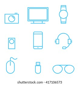 gadget and technology vector icons set illustration eps 10
