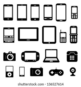 Gadget Vector Black and White