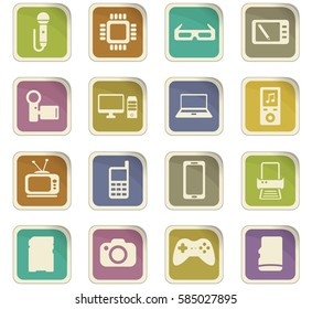 gadget vector icons for user interface design