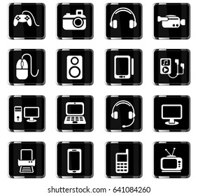 gadget web icons for user interface design