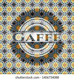 Gaffe arabesque style badge. arabic decoration.