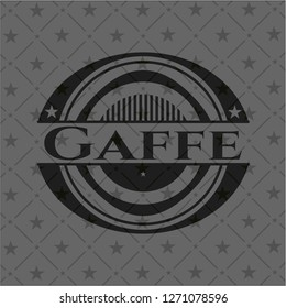 Gaffe dark emblem. Retro