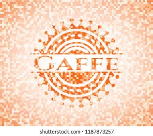 Gaffe orange mosaic emblem with background