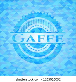 Gaffe realistic sky blue mosaic emblem