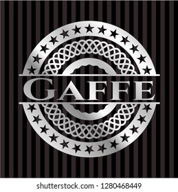 Gaffe silver shiny emblem