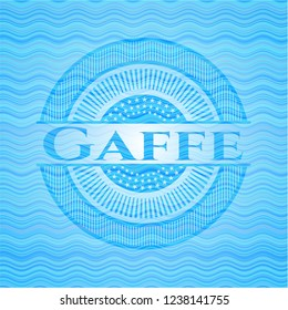 Gaffe water wave representation badge.