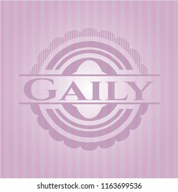 Gaily badge with pink background