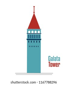 galata tower illustration vector