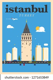 Galata Tower, Istanbul Poster Design