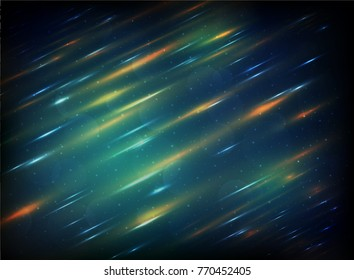 Galaxy blur background with blur and light star style of gradient, illustration vector
