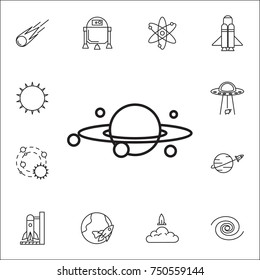 Galaxy icon. Set of space icons. Signs, outline symbols collection, simple thin line icons for websites, web design, mobile app, info graphics on white background