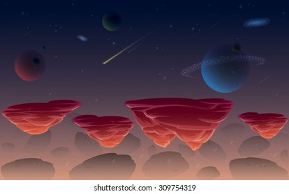 Galaxy space game background