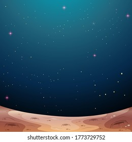 A galaxy space theme background illustration