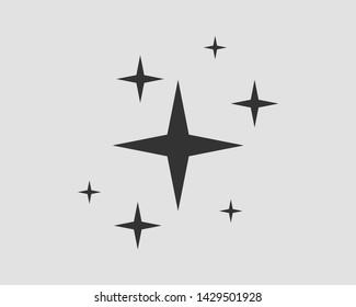 Galaxy stars vector icon. Design element.