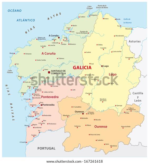 Galicia Administrative Map Stock Vector (Royalty Free) 167261618 on pale of settlement, wallachia map, asturias map, malopolska map, catalonia espana map, rheinhessen map, galician map, picos de europa map, castilla la vieja map, la rioja map, ukraine map, carpathian mountains map, andalucia map, east prussia map, santiago de compostela map, poland election map, karachay-cherkessia map, taras shevchenko, bohemia map, duchy of warsaw, carpathian ruthenia, kingdom of galicia and lodomeria, carpathian mountains, second polish republic, spain map, norte map, catalonia france map,