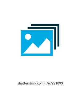 Gallery icon colored symbol. Premium quality isolated image element in trendy style.
