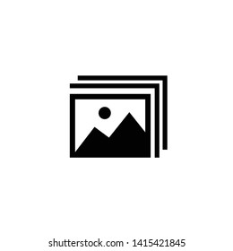 Gallery icon symbol. Premium quality isolated image element in trendy style