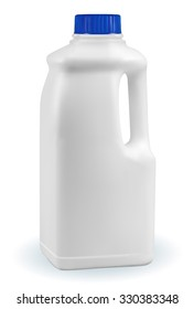 Gallon of milk isolated on white background isolated on white background. EPS-10
