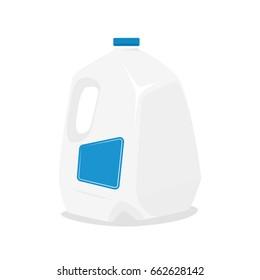 Gallon of milk. Vector illustration isolated on white background