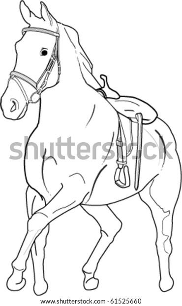 galloping horse stock vector royalty free 61525660