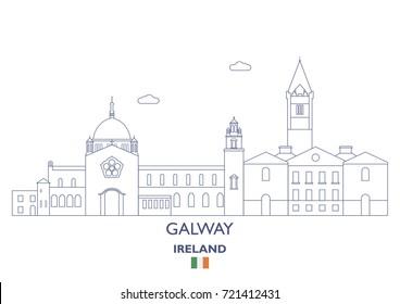 Galway Linear City Skyline, Ireland