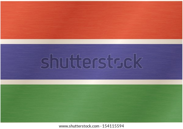 Gambian flag blowing in the wind. Part of a series.