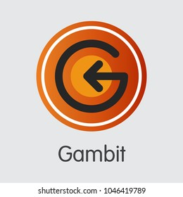 Gambit Blockchain Based Secure Blockchain Cryptocurrency. Isolated on Grey GAM Vector Graphic Symbol.