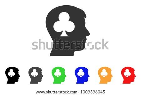 Gambling Addiction Patient Icon Vector Illustration Stock