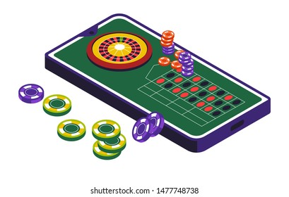 Gambling casino club and roulette wheel, isolated icon vector. Game with money stakes and risk, luck and win, fortune and stakes or betting. Playing equipment, gamble online, rotation and numbers