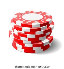 Gambling chips. Vector.