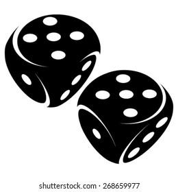 Gambling dice symbols