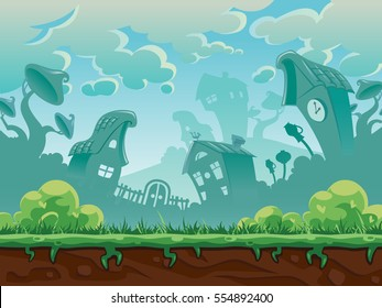 Game background, colorful vector illustration