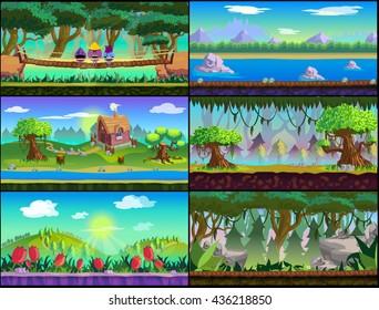 Game background Vector set