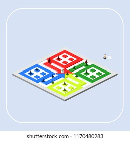 Game Board (Isometric View)
