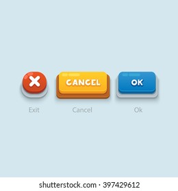 Game buttons Vector