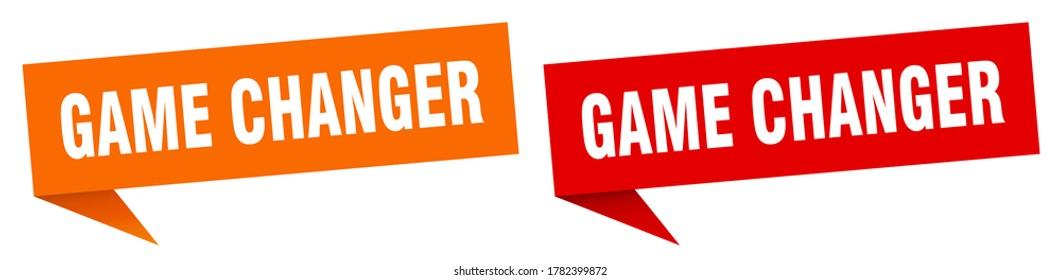 game changer banner. game changer speech bubble label set
