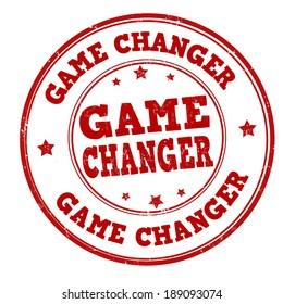 Game changer grunge rubber stamp on white, vector illustration