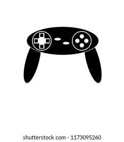 Game console controller vector, game joypad vector.